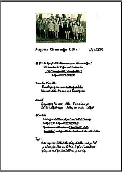 april 2006 – seite 3 – das virtuelle klassentreffen, Einladung