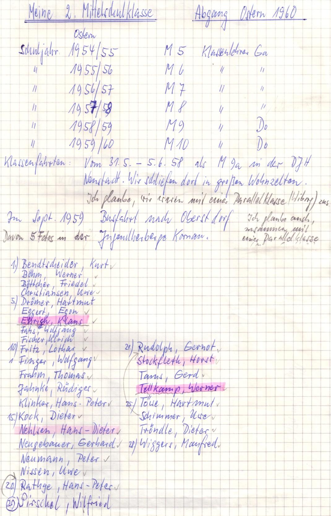 Schüler 1960 Das Virtuelle Klassentreffen Part 2